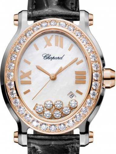 Chopard Happy Sport Mother Of Pearl Watch- 278546-6002