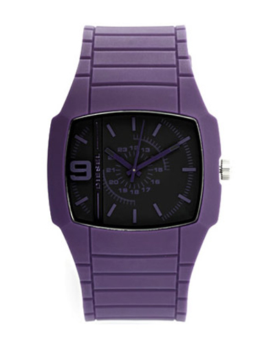 Diesel Men's Sillicon Purple Strap Watch-DZ1385
