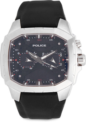 Police Shaped Analog Black Dial Men's Watch PL13929JS02J-PL13929JS02J