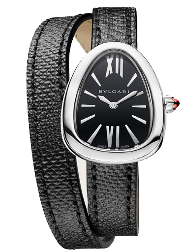 Bvlgari Serpenti Oval Black Watch for Women's-102782