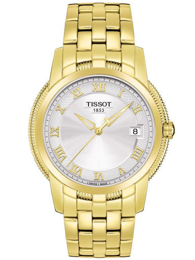 Tissot Ballade III Steel & Gold Plated Silver Dial Men's Watch-T0314103303300