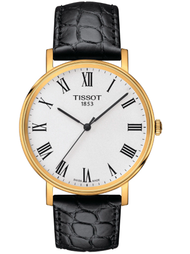Tissot Everytime Medium Leather Silver Dial Unisex Watch-T1094103603300