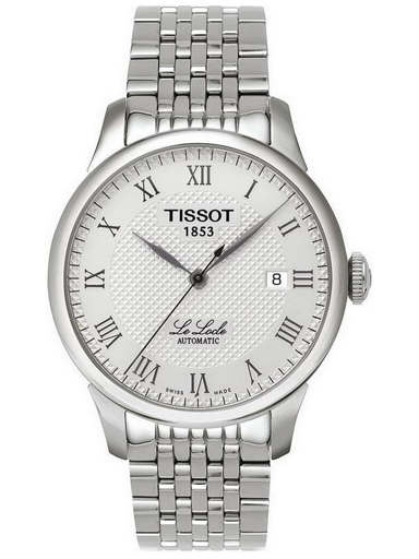 Tissot Le Locle Silver Textured Dial Men's Watch-T41148333
