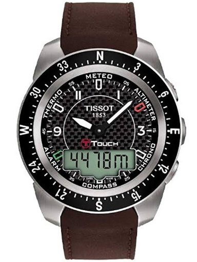 Tissot T-touch Expert Titanium Alarm Chronograph Men's Watch-T0134204620700