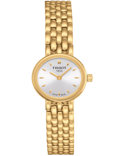 Tissot T-Trend Lovely Silver Dial Gold-plated Ladies Watch-T0580093303100