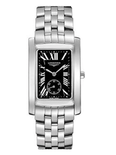 longines dolce vita black dial stainless steel ladies watch l51554796-L5.155.4.79.6