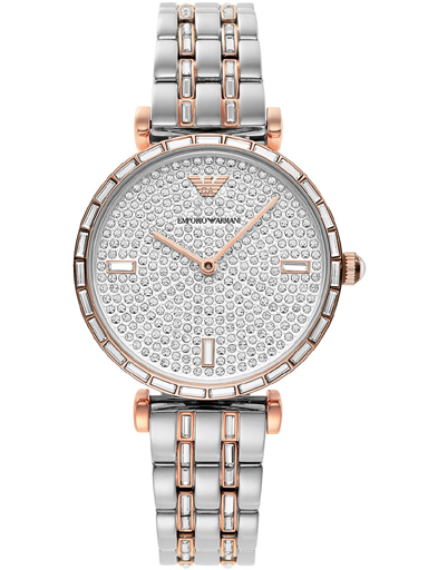 Emporio Armani Two-Hand Two-Tone Stainless Steel Watch-AR11293I