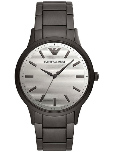 emporio armani analog silver dial men's classic watch-AR11259I