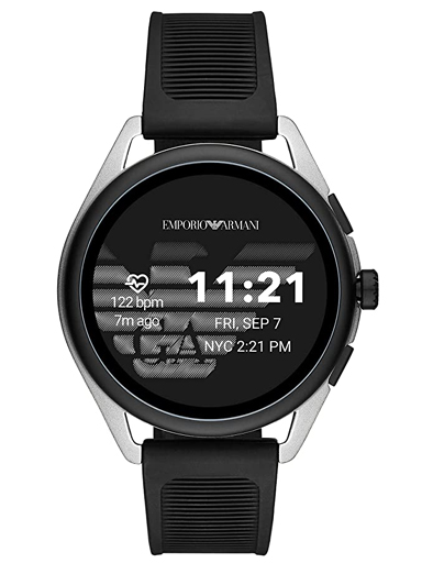 emporio armani connected matteo digital black dial men's smart watch-ART5021