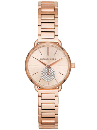 michael kors women's rose gold stainless steel bracelet with gold  dial quartz movement mk3839i-MK3839I