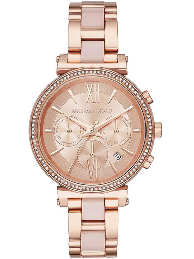 Michael Kors Analog Rose Gold Dial Women's Watch - MK6560-MK6560I