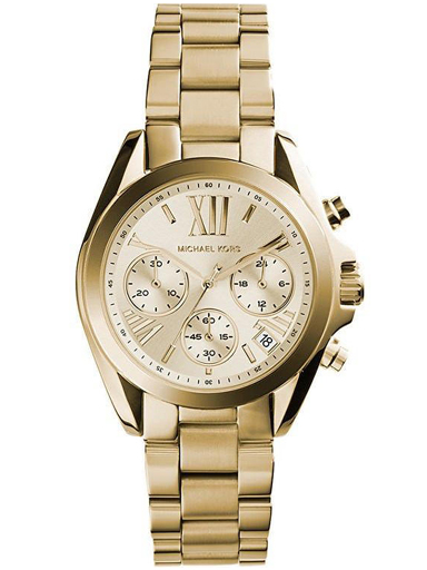 Michael Kors Mini Bradshaw Analog Gold Dial Women's Watch - MK5798-MK5798I