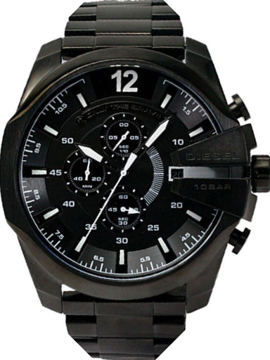 Diesel Mega Chief Round Black Dial Men's Watch DZ4283-DZ4283