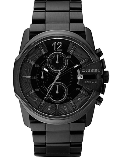 Diesel Master Chief Round Analog Black Dial Watch-DZ4180I