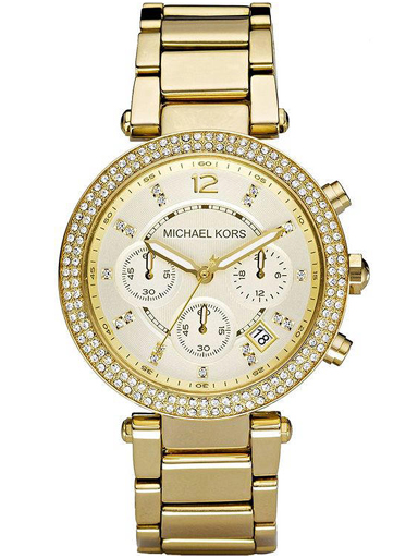 Michael Kors Parker Analog Gold Dial Women's Watch - MK5354-MK5354I