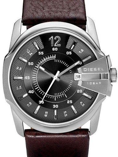 diesel round analog grey dial men's watch dz1206-DZ1206