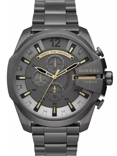 diesel mega chief chronograph grey dial men's watch-DZ4466I