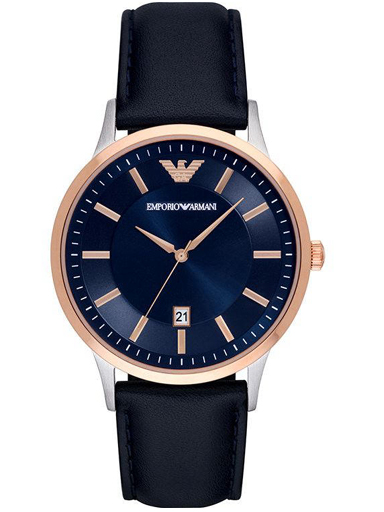 emporio armani blue dial men's watch-AR11188