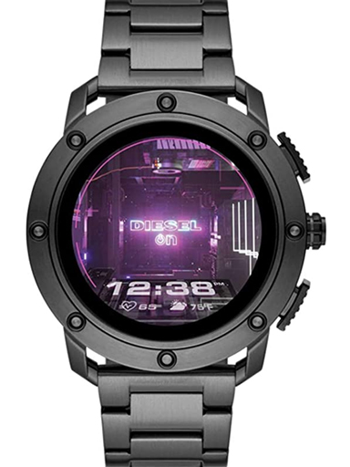 Diesel Axial Digital Black Dial Men's Metal Watch-DZT2017