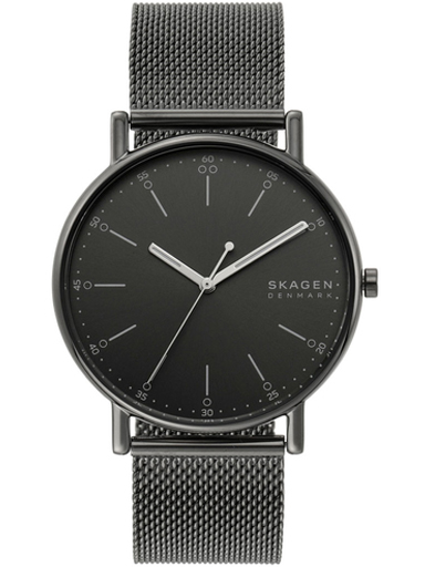 skagen signatur three-hand gray steel-mesh watch-SKW6577I