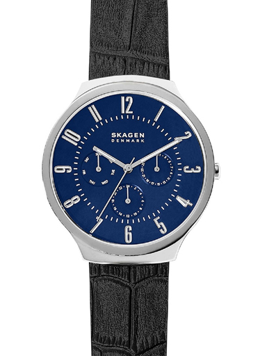 Skagen Grenen Round Analog Blue Dial Men's Watch-SKW6535I