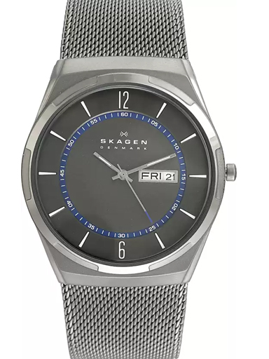 skagen melbye titanium and gray day-date watch-SKW6078I