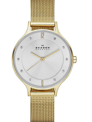skagen anita gold-tone steel-mesh watch-SKW2150I