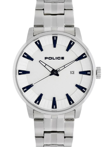police silver dial silver stainless steel strap men's watch-PL15391JS04M