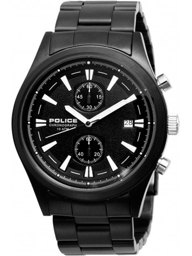 Police Black Chronograph Dial Black Metal Strap Watch For Men PL11289JSB/02M-PL11289JSB/02M