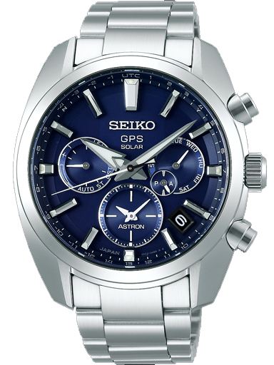 Seiko Blue Dial GPS Solar Men's Watch SSH019J1-SSH019J1
