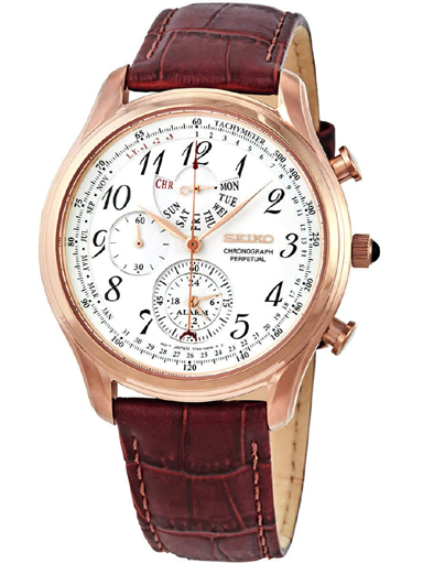 Seiko Cream Dial Chronograph Men's WatchSPC256P1-SPC256P1
