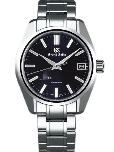 Grand Seiko Heritage Men Date Quartz Black Dial Watch SBGA375G-SBGA375G