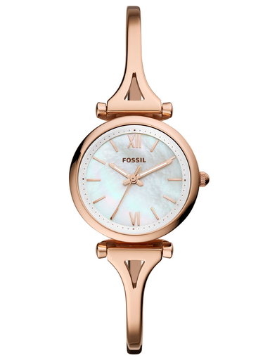 fossil carlie mini mop rose gold-tone stainless steel watch-ES4500I