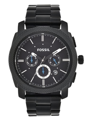 Fossil Machine Chronograph Black Stainless Steel Watch-FS4552IE