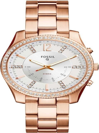 Fossil Hybrid Smartwatch Scarlette Rose Gold-Tone Stainless Steel-FTW5016