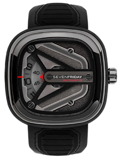 Seven Friday M-Series Spaceship Automatic Grey Dial Men's Watch M3/01-SF-M3/01