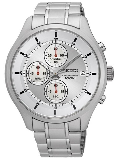 Seiko Silver Dial Chronograph Men's Watch SKS535P1-SKS535P1
