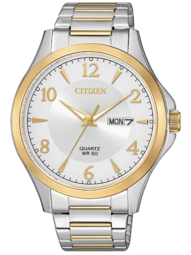 Citizen Dress Silver/Gold Dial Quartz Men's Watch BF2005-54A-BF2005-54A