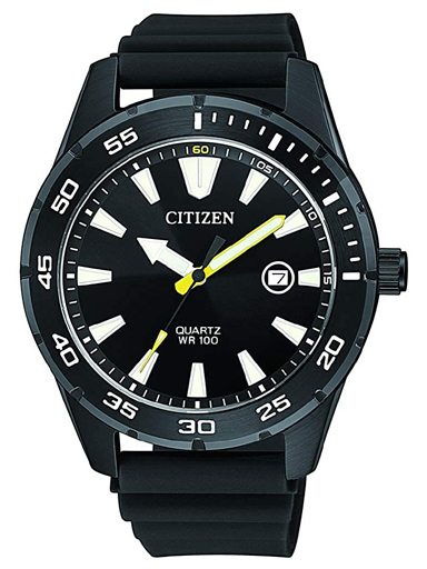 Citizen Black Dial Quartz Men's Watch BI1045-13E-BI1045-13E