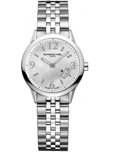 Raymond Weil Freelancer Mother of Pearl Ladies Watch-5670-ST-05907