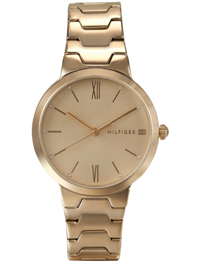 tommy hilfiger rose gold dial analog women's watch nbth1781959-NBTH1781959