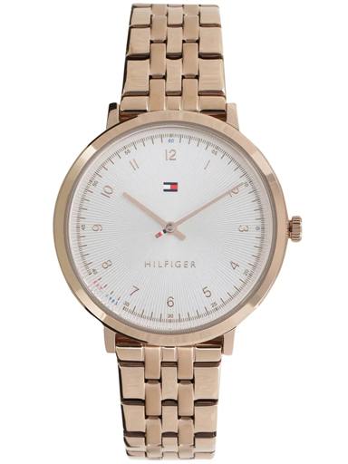 Tommy Hilfiger Silver Dial Rose-Gold Analog Women's Watch NBTH1781760-NBTH1781760