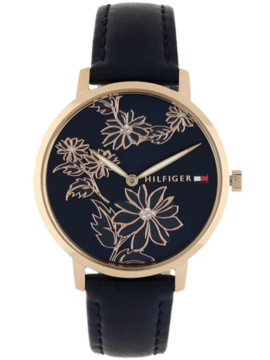 tommy hilfiger blue dial analog women's watch nbth1781918-NBTH1781918