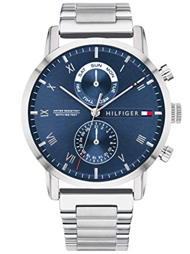 tommy hilfiger kane multi-function blue dial men's watch th1710401-TH1710401