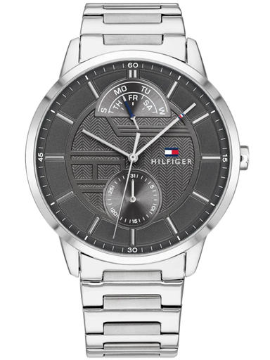 tommy hilfiger grey dial multi-function men's watch th1791608-TH1791608