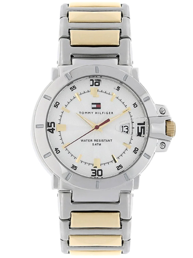 tommy hilfiger silver dial with date function men's watch nbth1790514-NBTH1790514