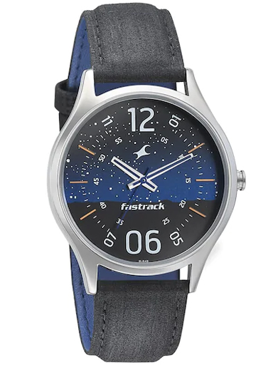fastrack space analog blue dial men's watch-3184SL03