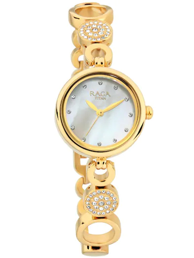 Titan Raga Mother of Pearl Dial Swarovski Studded Women's Watch 311YM16-311YM16