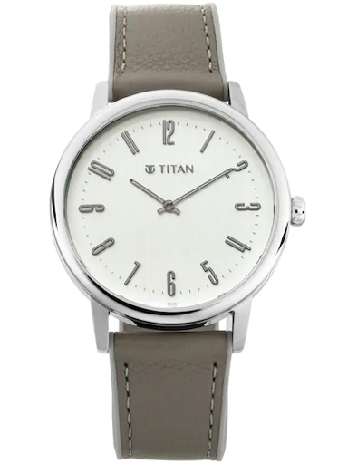 titan athleisure silver epoxy polished dial men's watch 90118sp01-90118SP01
