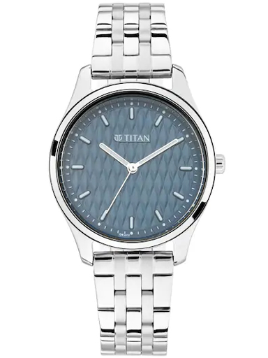 Titan Work Wear Blue Dial & Stainless Steel Strap Women's Watch 2639SM02-2639SM02